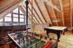Chalet à louer Carcajou Salle de jeux à la mezzanine - Chalet Carcajou