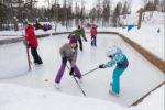 Chalet à louer Loutre Patinoire de hockey - Au Chalet en Bois Rond
