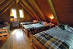 Chalet à louer Orignal Dortoir avec 4 lits simples - Chalet Orignal