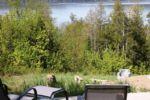 Chalet à louer Le Simonet Vue sur le lac - foyer extérieur