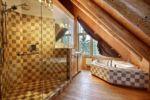Chalet à louer Castor Salle de bain privé dans la chambre des maîtres - Chalet Castor