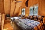 Chalet à louer Bécasseau Chambre avec deux lits doubles- Chalet Bécasseau