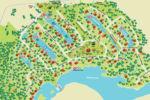 Chalet à louer Aurore Boréale Carte du village touristique - Au Chalet en Bois Rond